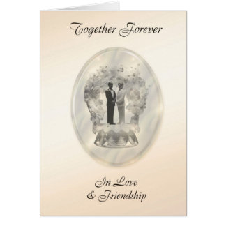 Together Forever Male Civil Union Card