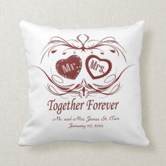 Together Forever | Personalized Throw Pillow