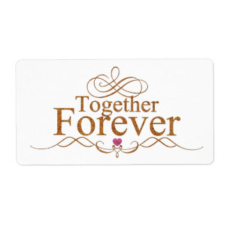 Together forever Sticker labels Lighthouse Route