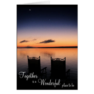 Together is a wonderful place to be card