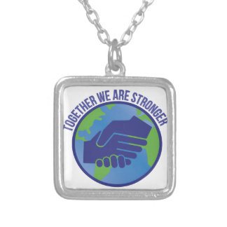 Together Stronger Silver Plated Necklace
