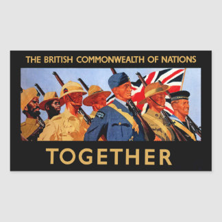 Together ~ The British Commonwealth of Nations Sticker