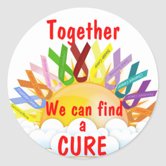 Together we can find a CURE Round Sticker