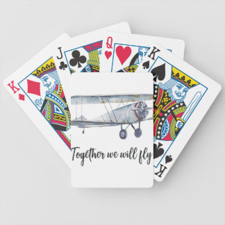 Together we will fly bicycle playing cards