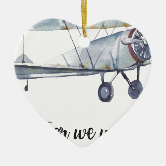 Together we will fly ceramic ornament
