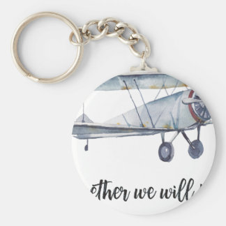 Together we will fly keychain