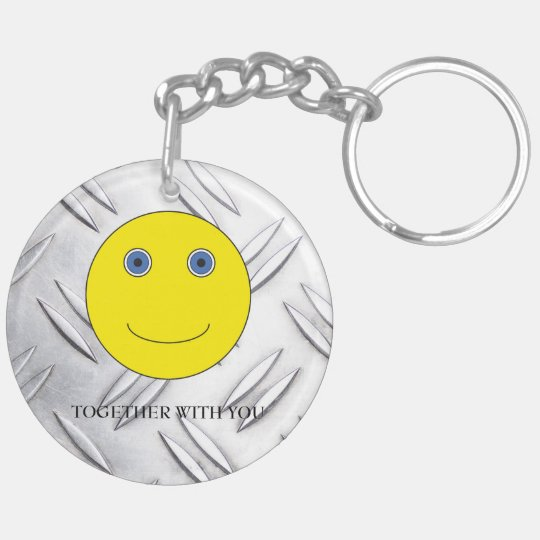 Together with you Double-Sided round acrylic keychain