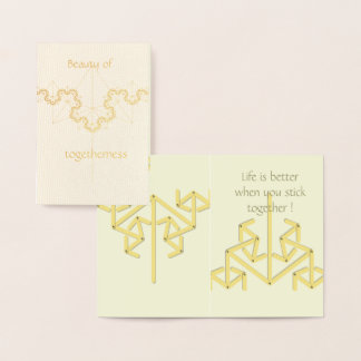 Togetherness foil card