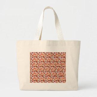 Togetherness stereogram large tote bag