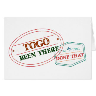 Togo Been There Done That Card