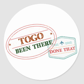 Togo Been There Done That Classic Round Sticker