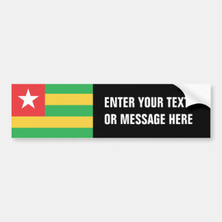 Togo Flag Bumper Sticker