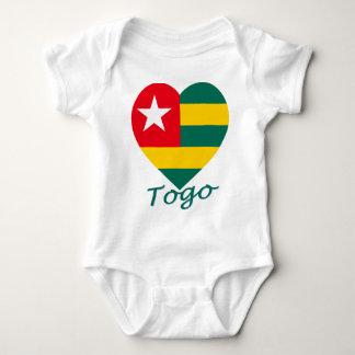 Togo Flag Heart Baby Bodysuit