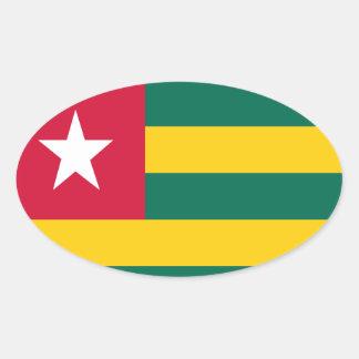 Togo flag oval sticker