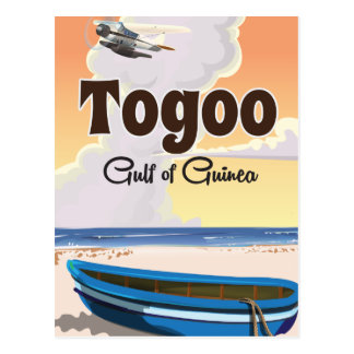 Togo Gulf of Guinea travel poster print Postcard