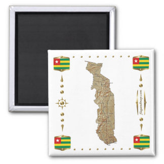 Togo Map + Flags Magnet