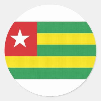 Togo National Flag Round Sticker