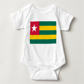 Togo National World Flag Baby Bodysuit