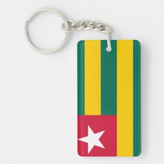 Togo National World Flag Keychain