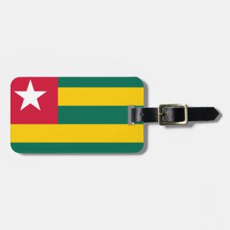 Togo National World Flag Luggage Tag