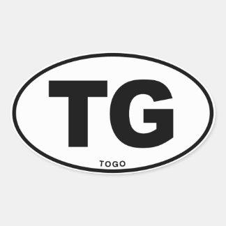 Togo TG Oval ID Identification Code Initials Oval Sticker
