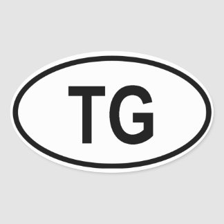 "Togo ""TG"" Oval Sticker"