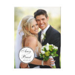 Toile blanche noire de souvenir de photo de mariag toile tendue sur châssis
