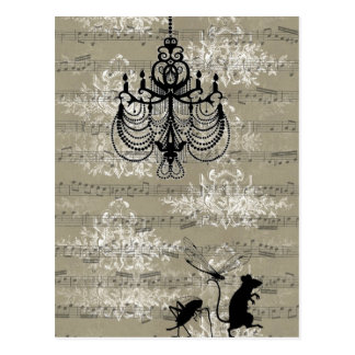 Toile Critters Postcard