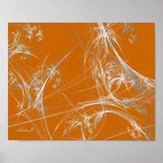 Toile d'araignée abstraite de fractale sur la