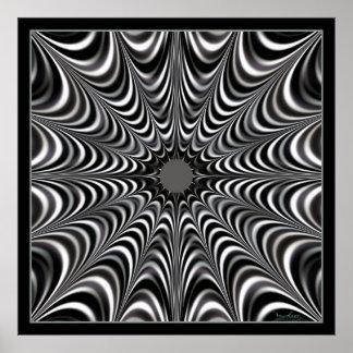 Toile d'araignée de l'espace poster