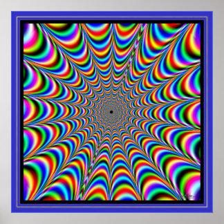 Toile d'araignée de palpitation de couleurs