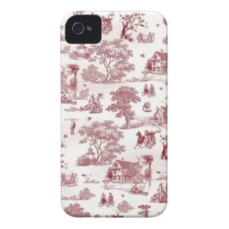 Toile De Jouy - Vintage Afternoon iPhone 4 Covers
