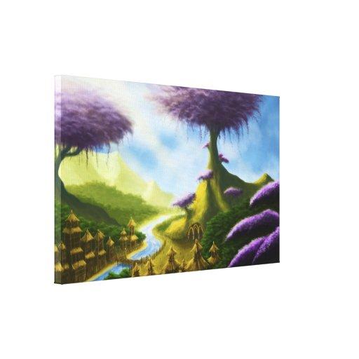 toile de peinture de paysage d'imaginaire de parad toiles tendues