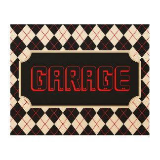 Toile en bois de signe de garage canevas en bois