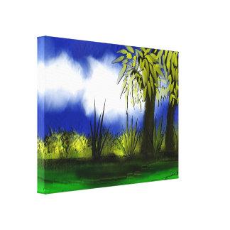 Toile enveloppée beau par paysage toiles tendues sur châssis