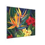 Toile enveloppée hawaïenne de paradis tropical gra impression sur toile
