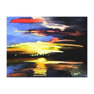Toile enveloppée par beaux-arts de lever de soleil toiles