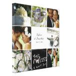 Toile enveloppée par collage de mariage - blanc impressions sur toile