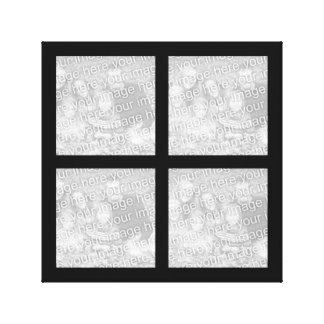 Toile enveloppée par collage de photo toiles tendues