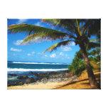 Toile enveloppée par palmier hawaïen toile tendue sur châssis