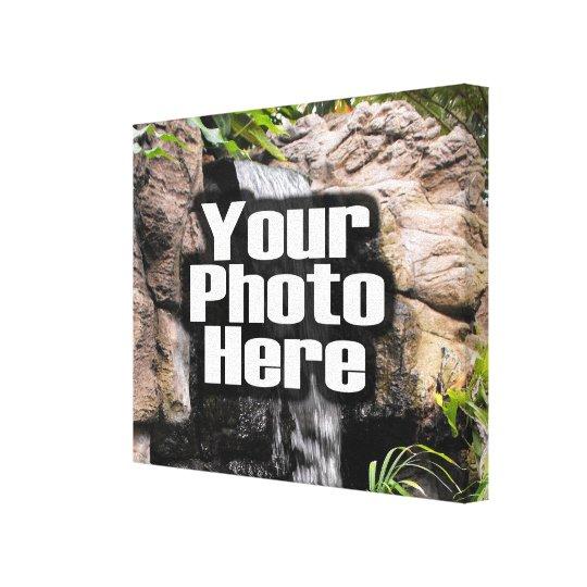 Toile enveloppée par photo faite sur commande