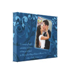 Toile florale abstraite de modèle photo de mariage toiles tendues sur châssis