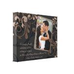 Toile florale noire de modèle photo de mariage de  impression sur toile