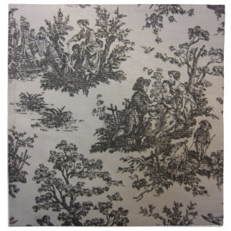 Toile in Black & White Napkin