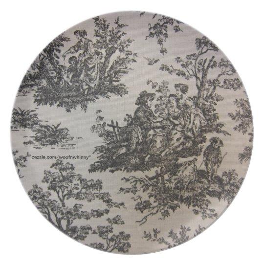 Toile in Black & White Plate