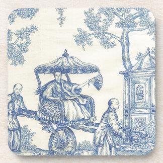 Toile in Blue & White Coaster