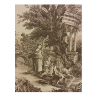 Toile: Wash Day at the River Postcard