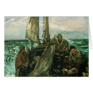 Toilers of the Sea by Manet, Vintage Impressionism Card