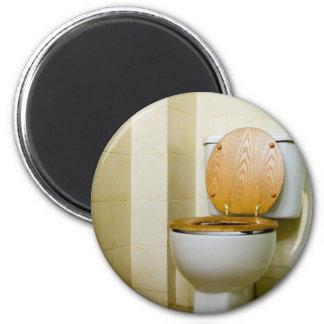 Toilet bowl in hotel bathroom magnet