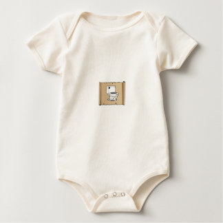 toilet on the scroll baby bodysuit